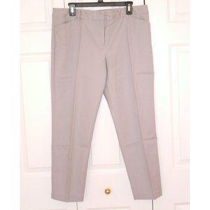 Liz Claiborne Emma Classic Pants, Grey, Size 14